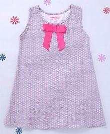 CrayonFlakes Polka Dots on Straight Knit Dress - Grey
