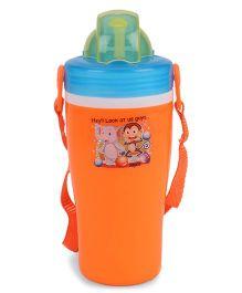 Jewel Cute Insulated Water Bottle Elephant Print Orange - 400 ml