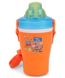 Jewel Insulated Water Bottle Lets Play Print Orange - 300 ml