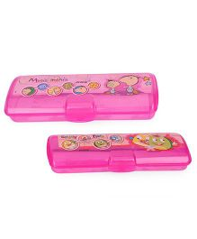 Pratap Hy Trend Chhotu And Motu Pencil Box Set Of 2 - Pink