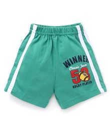 Pink Rabbit Shorts With Side Stripe And Print - Green