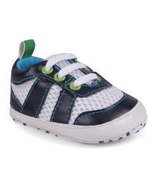 Cute Walk by Babyhug Shoe Style Booties - Navy & White