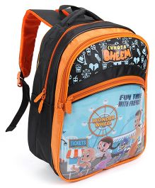Chhota Bheem School Bag Orange & Black - Height 13 inches