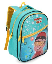 Chhota Bheem School Bag Yellow And Green - 14 Inch
