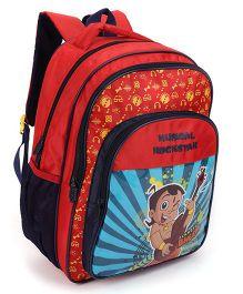 Chhota Bheem School Bag Red And Black - 16 Inch