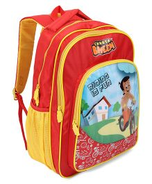 Chhota Bheem School Bag Red And Yellow - 18 Inch