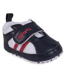 Cute Walk by Babyhug Shoe Style Booties - Dark Navy & White