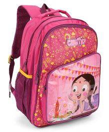 Chhota Bheem School Bag Pink - 18 Inch