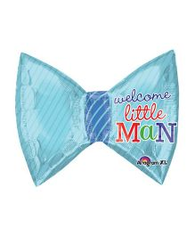 Bling It On Little Man Bow Tie Foil Balloon - Blue
