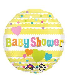 Bling It On Baby Shower Foil Balloon - Yellow
