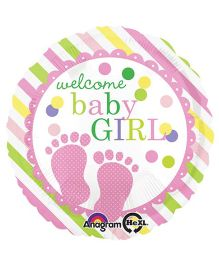 Bling It On Baby Feet Foil Balloon - Multi Color