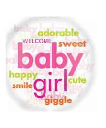 Bling It On Baby Word Cloud Foil Balloon - Multi Color