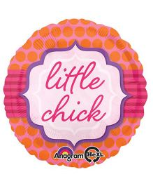 Bling It On Little Chick Foil Balloon - Pink And Orange