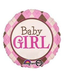 Bling It On Baby Foil Balloon - Cream and Pink
