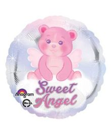 Bling It On Sweet Angel Baby Foil Balloon - Blue Pink