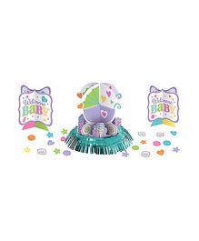Bling It On Bright Carriage Welcome Baby Table Decorating Kit - Multi Color