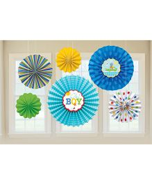 Bling It On Ahoy Paper Fans - Multi Color