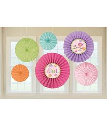 Bling It On Tweet Baby Girl Paper Fans - Multi Color