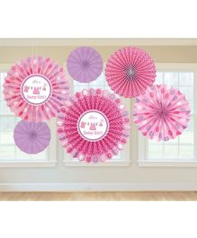 Bling It On Shower With Love Paper Fans - Pink And Purple