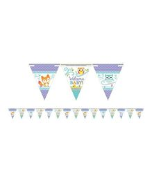 Bling It On Woodland Welcome Baby Pennant Banner - Multi Color