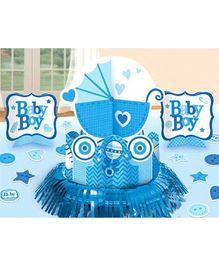 Bling It On Celebrate Baby Boy Table Decorating Kit - Blue