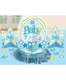 Bling It On Welcome Baby Boy Table Decorating Kit - Blue