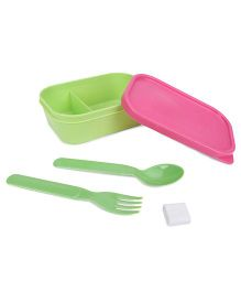 Pratap Hungry Kya Kids Lunch Container - Green And Pink