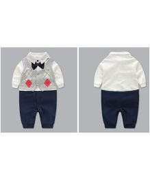 Petite Kids Baby Boy Stylish Romper Suit - Navy