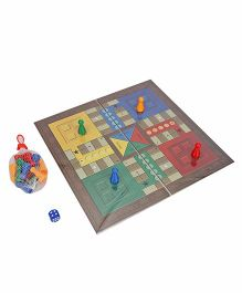 Toys Box Ludo And Snakes & Ladders Premium Small - Multi Color