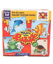 Toys Box Tickle With Puzzle Fun & Learn Aquatic Animal Series - Multicolor