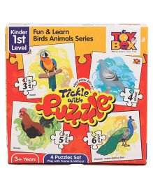Toys Box Tickle With Puzzle Fun & Learn Birds Animal Series - Multicolor