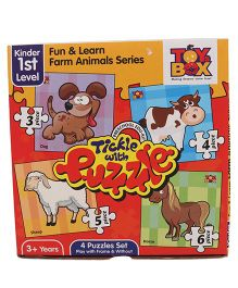 Toys Box Tickle With Puzzle Fun & Learn Farm Animal Series - Multicolor