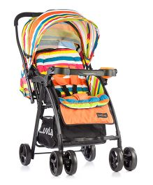 LuvLap Joy Baby Stroller Printed - Orange