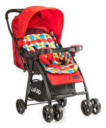 LuvLap Joy Baby Stroller - Printed Red