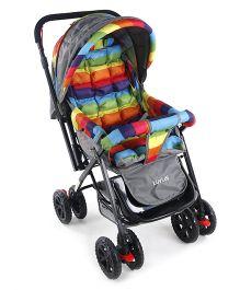 Luv Lap Sunshine Baby Stroller Stripes Multicolour - 18306