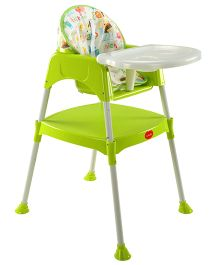 LuvLap 3 in 1 Baby High Chair - Green 18295