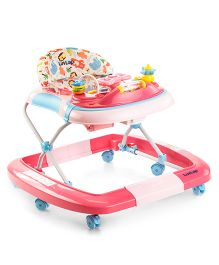 LuvLap Grand Baby Walker With Rocker - Pink