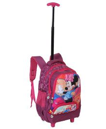 Disney Minnie Mouse School Bag Trolley Pink - 17 Inches