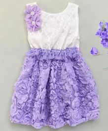 Adores Elegant Rose Dress - Purple