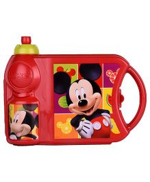 Disney Mickey Lunch Box and Bottle Set - Red