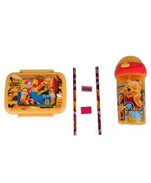 Disney Winnie the Pooh Theme School Set - Yellow Multicolor