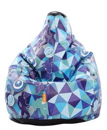 Orka Avengers Digital Printed Bean Bag Blue - XL