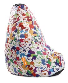 Orka Mickey Mouse Digital Printed Bean Bag Cover Multicolor - XL