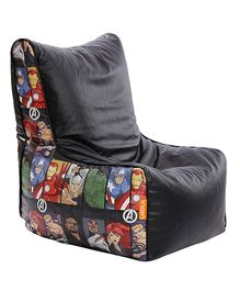 Orka Avengers Characters Digital Printed Bean Chair Cover Black Multicolor - XL