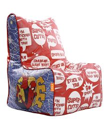 Orka Spiderman Comics Digital Printed Bean Chair Cover Red Blue - XL
