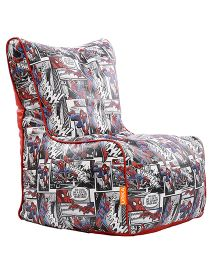 Orka Spiderman Digital Printed Bean Chair With Beans Multi Color - XL