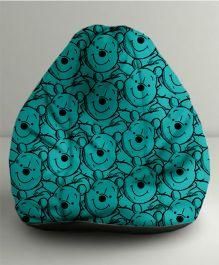 Orka Disney Winnie The Pooh Digital Printed Bean Bag Filled with Beans Teal Blue & Black - Small
