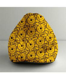 Orka Disney Winnie The Pooh Digital Printed Bean Bag Filled with Beans Yellow & Black - Small
