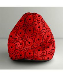 Orka Disney Winnie The Pooh Digital Printed Bean Bag Filled with Beans Red & Black - Small