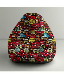 Orka Disney Pixar Cars Digital Printed Bean Bag Multi Color - Small